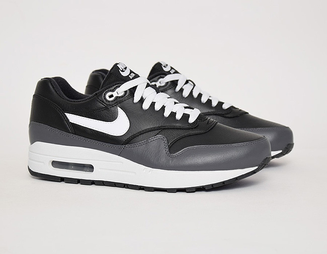 Nike Air Max 1 Leather Grey / Black