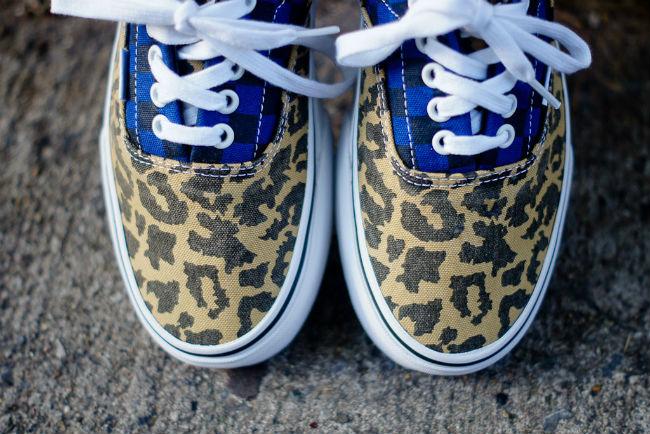 Vans Era Blue/Leopard