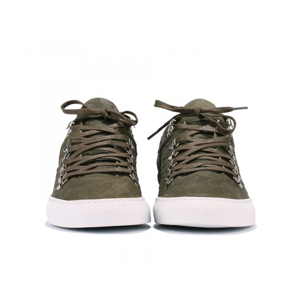 Filling Pieces Mountain Cut Olive Ostrich Embossed