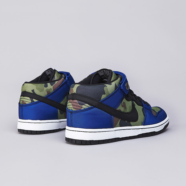 Nike SB Dunk Mid Pro Premium Old Royal / Black – White