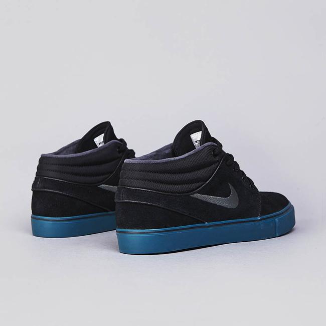 Nike SB Stefan Janoski Mid Black / Dark Base Grey – Atomic Orange – Night Factor