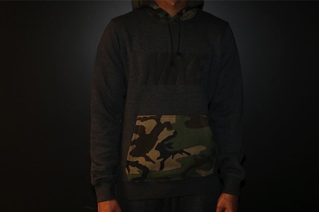 Nike NSW Club Pullover Camo Pocket