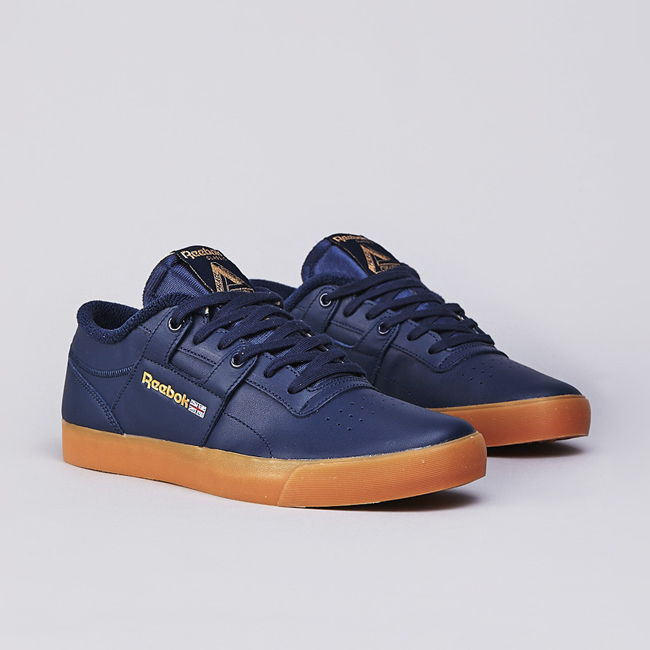 Palace X Reebok Workout Clean Low Collegiate Navy / White