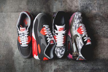 Nike Air Max 90 Ice and Nike Air Max 90 Jacquard Infrared