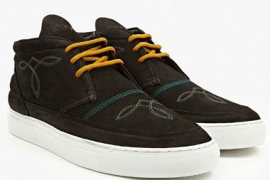 Filling Pieces Desert Boot Embroidered Black