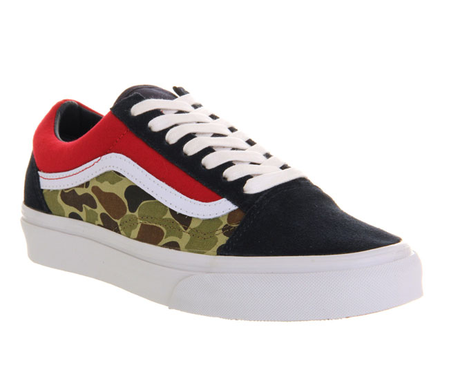 Vans Old Skool Camo Dress Blues Red White