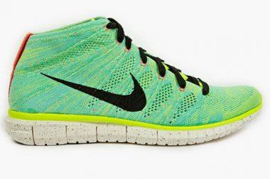 Nike Free Flyknit Chukka green