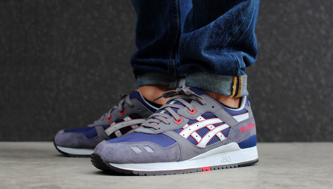 asics gel lyte iii navy grey