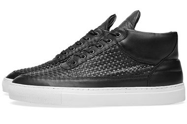 Filling Pieces Mid Sneaker Black Woven