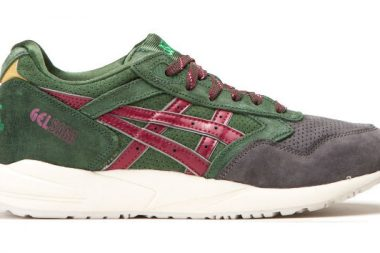 asics gel saga christmas pack dark green burgundy