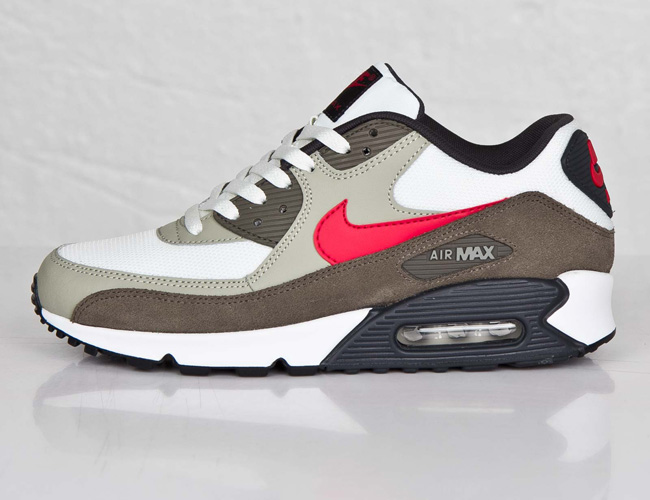 Nike Air Max 90 Essential Summit White / university Red
