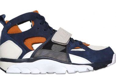 Nike Air Huarache High Top blue suede