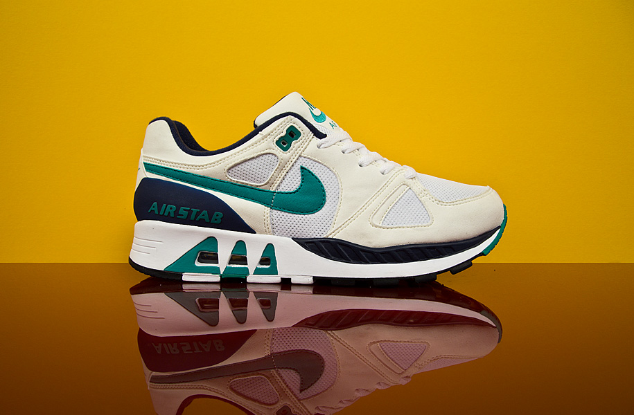 Nike Air Stab White/Emerald Green-Sail-Mid Navy