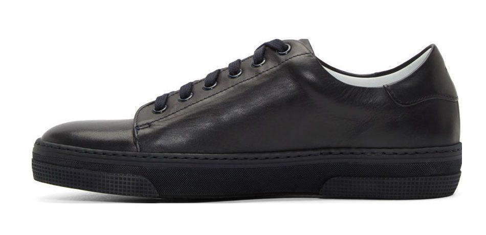 apc navy leather jaden tennis sneakers