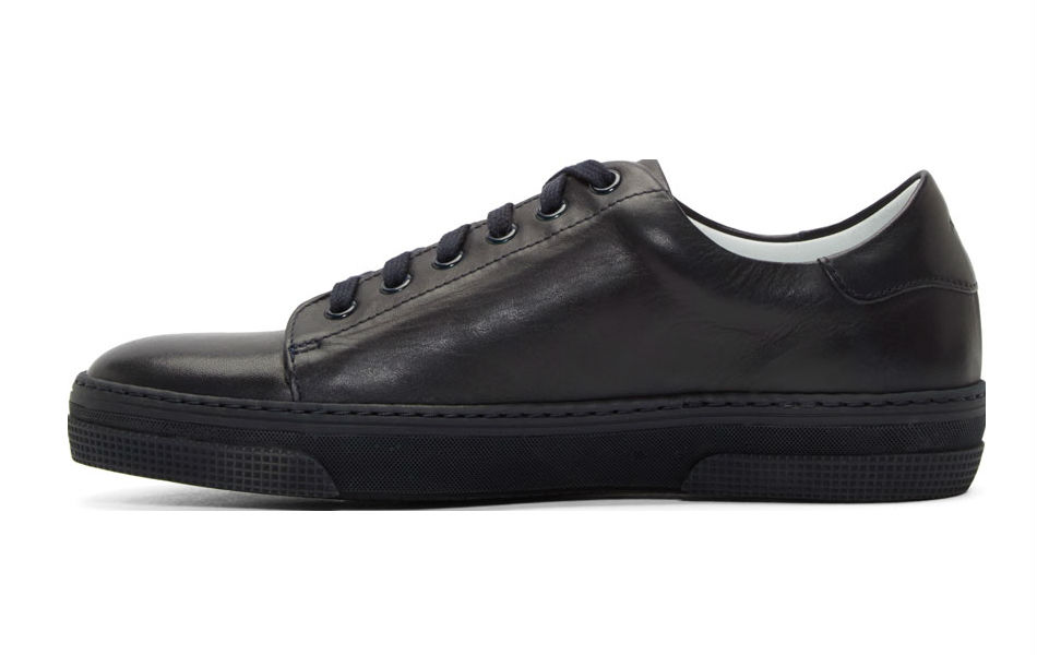 apc navy leather jaden tennis sneakers