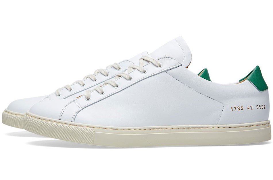 common projects achilles retro low white green