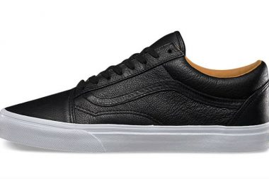 Vans old skool premium leather black