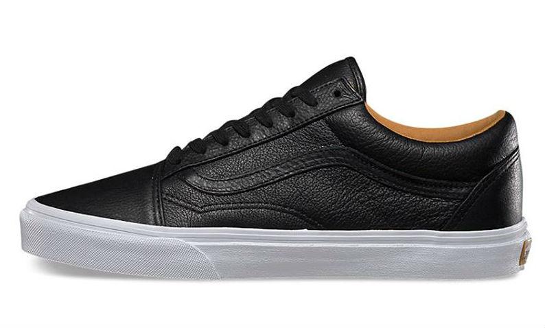 Vans old skool premium leather black