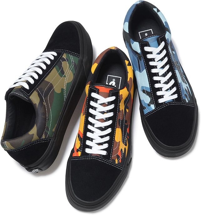 supreme x vans old skool camo 2015