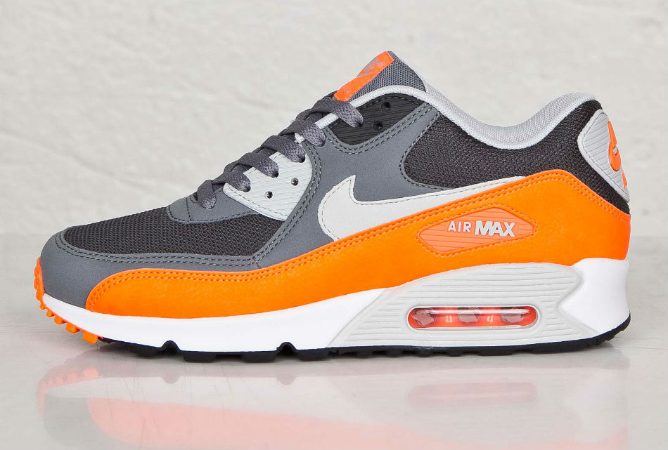 Nike Air Max 90 Essential Cool Grey Total Orange