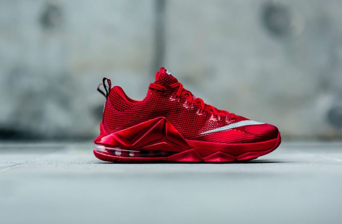 Nike Lebron 12 Low Premium University Red