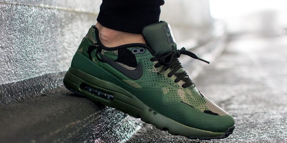 nike air max 1 ultra moire print carbon green black