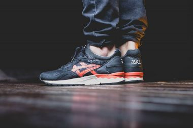 asics gel lyte iii city pack black chili