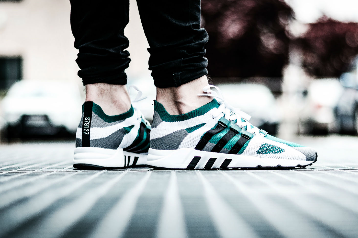 adidas eqt running support primeknit core black/Sub green