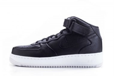 nike lab air force 1 mid black