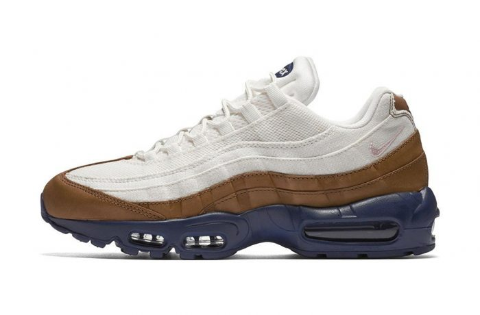 nike air max 95 white canvas brown leather navy