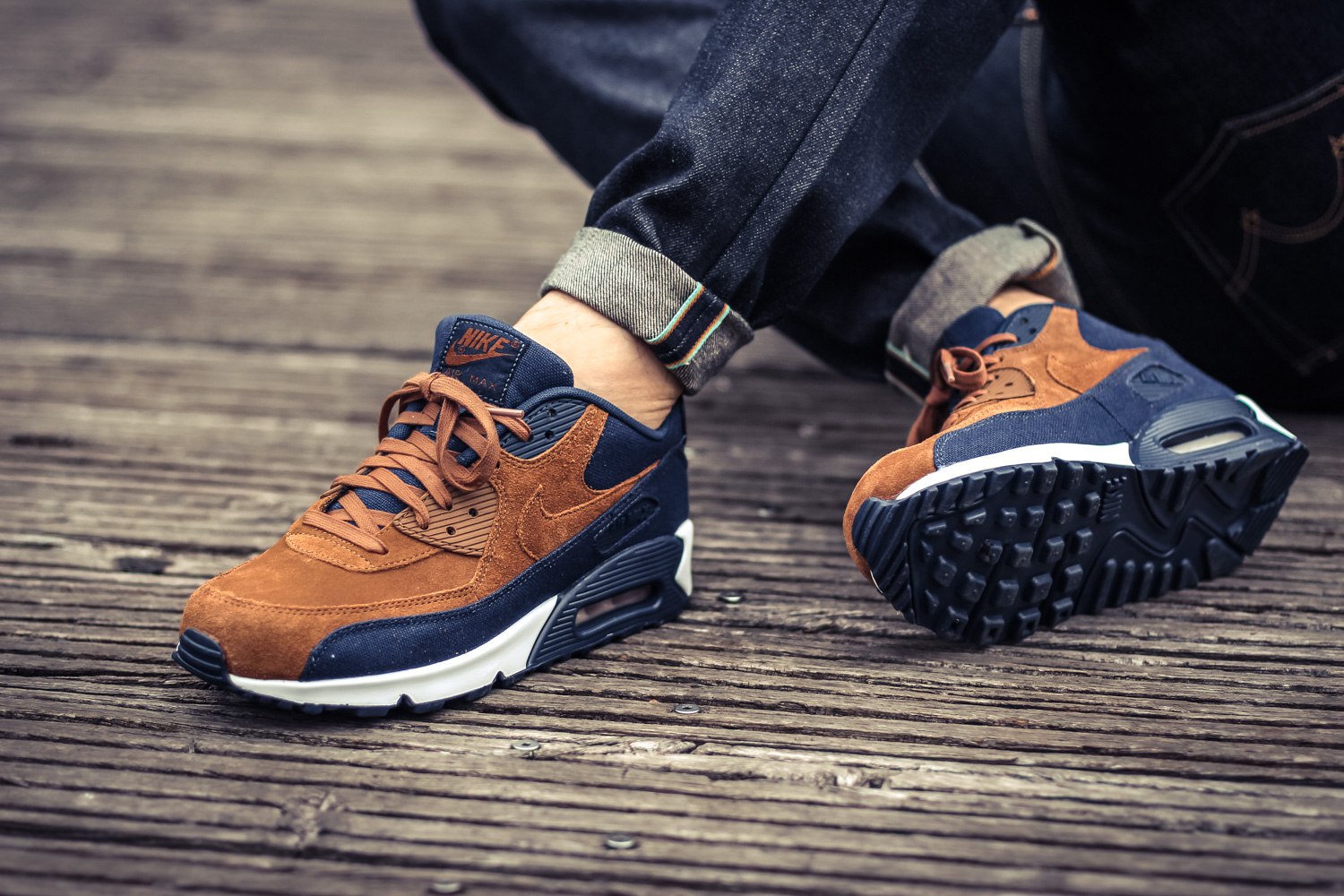 nike air max 90 premium ale brown