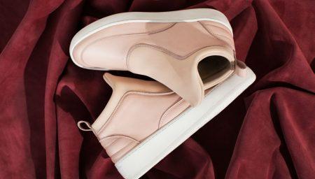 Sneakers Rosa Blush em toda a parte