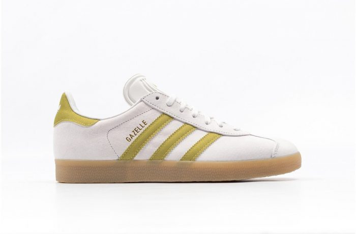 adidas gazelle white/gold/gum bb5495