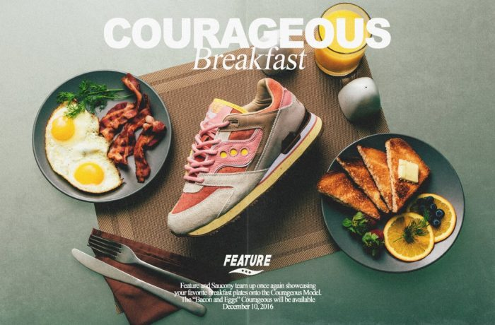 saucony x feature courageous bacon eggs