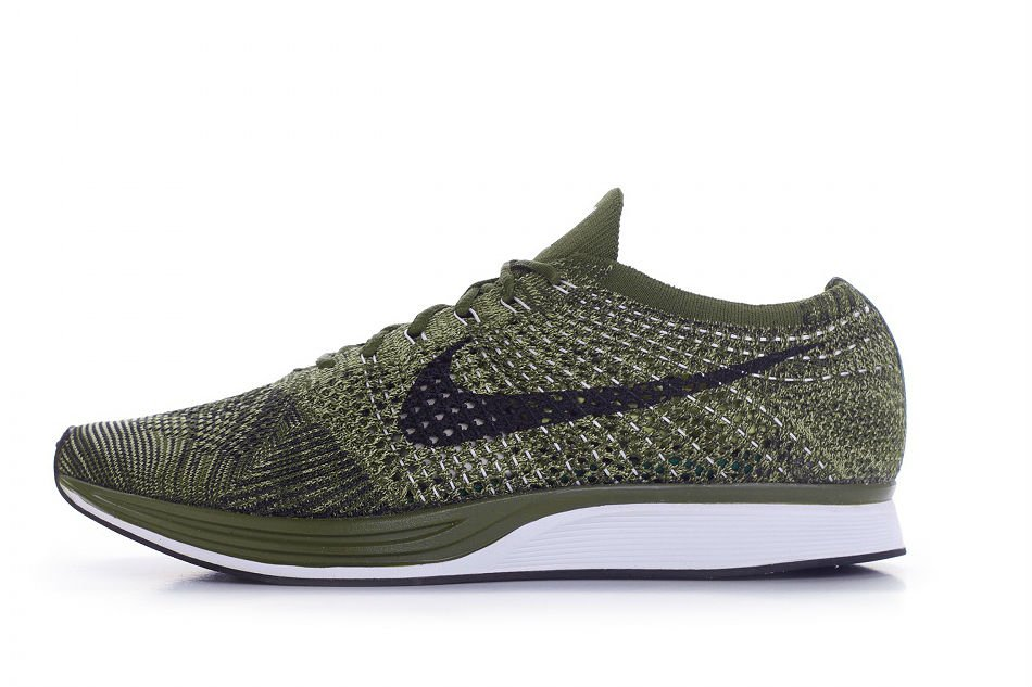 nike flyknit racer rough green