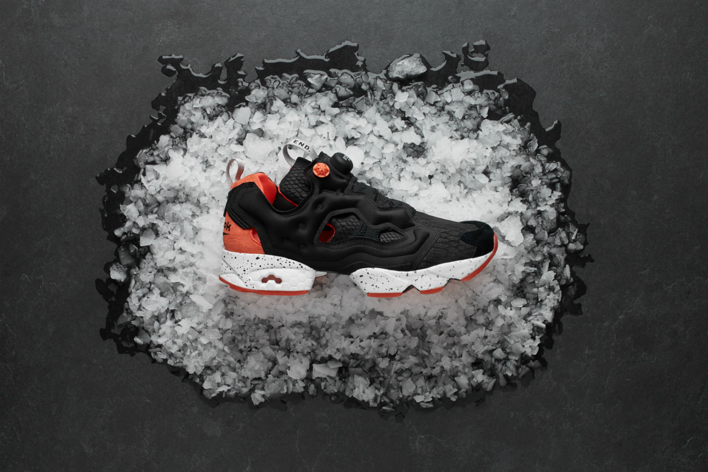 END. X Reebok Instapump Fury 'Black Salmon'