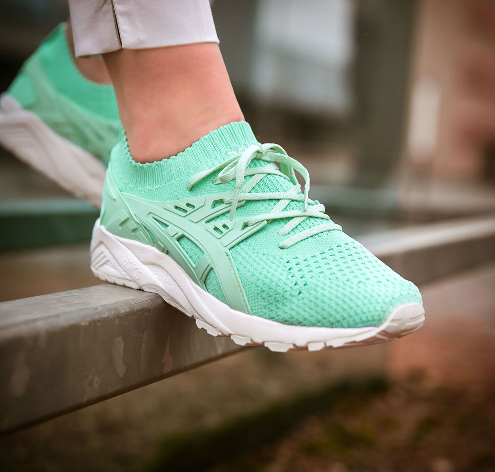 asics womens gel kayano trainer knit mint