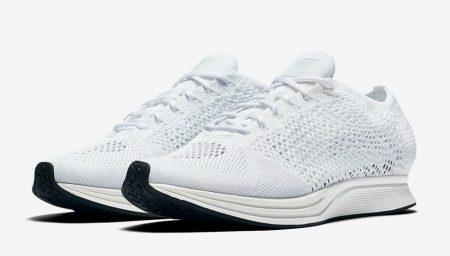 Nike Flyknit Racer Triple White