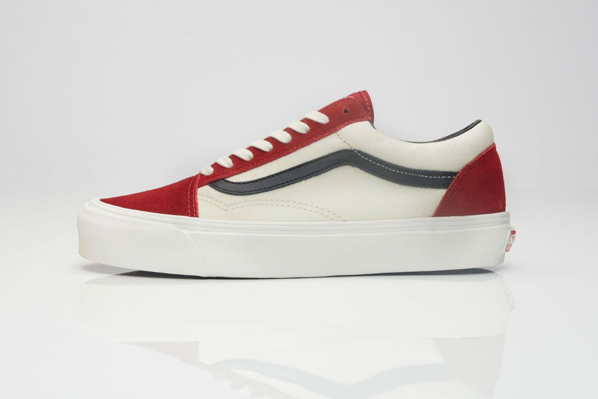 vans vault red dahlia old skool