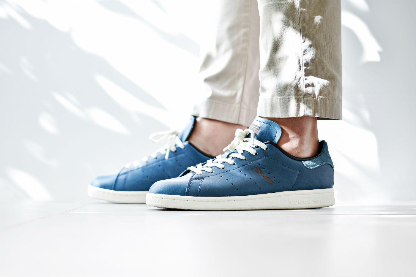 adidas originals stan smith horween leather blue