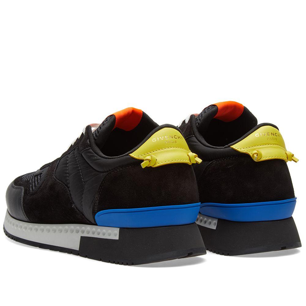 givenchy runner sneaker black white yellow