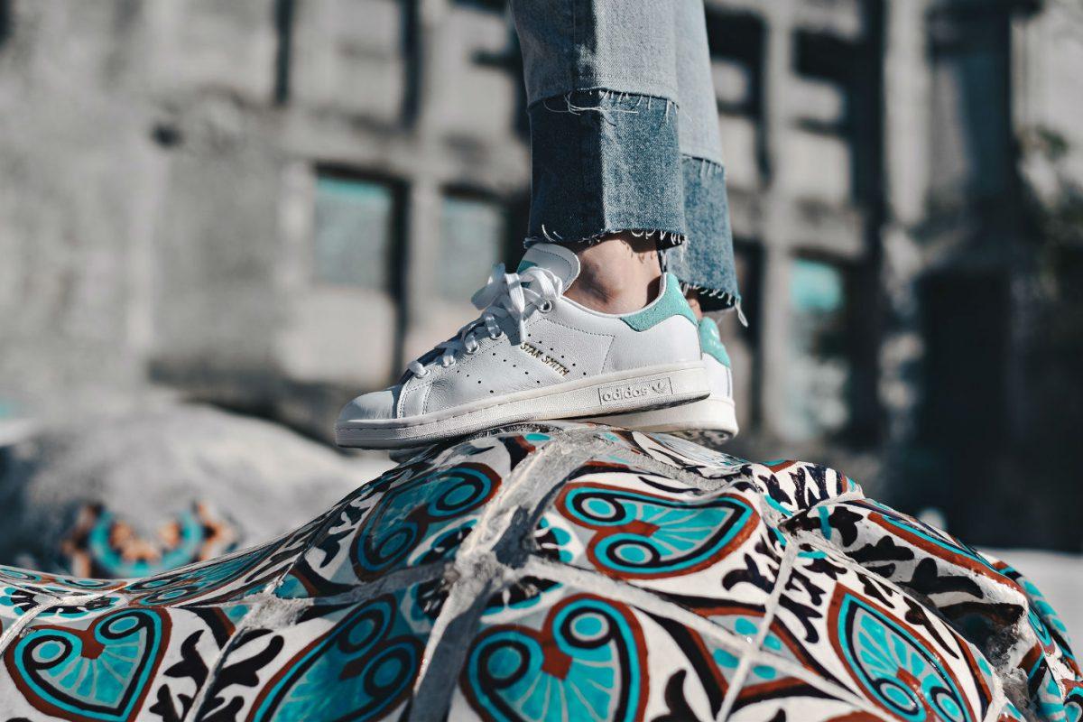 adidas stan smith white energy aqua BZ0461