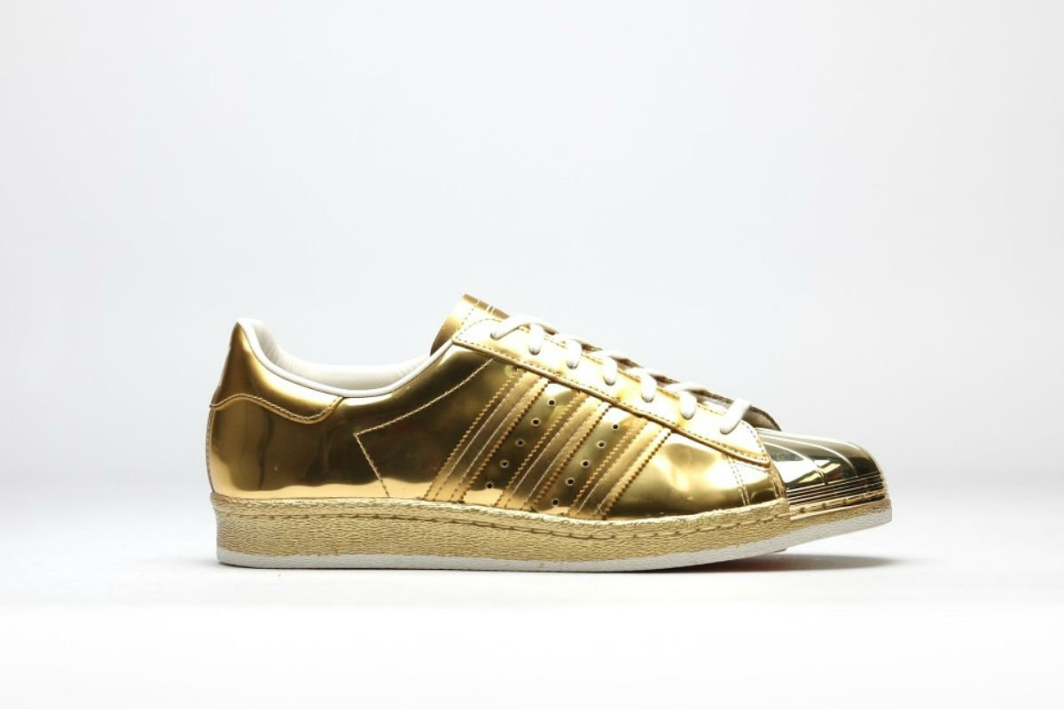 adidas superstar 80s metal gold metal off white