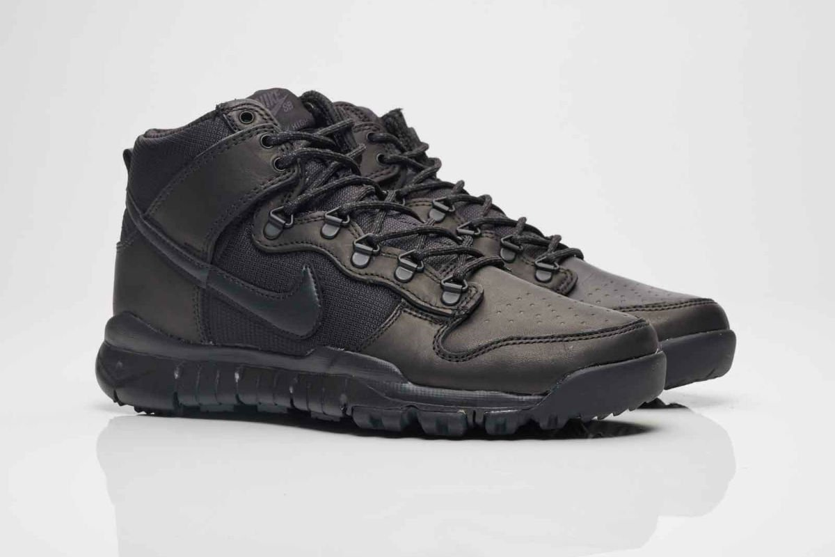 nike dunk high boot black
