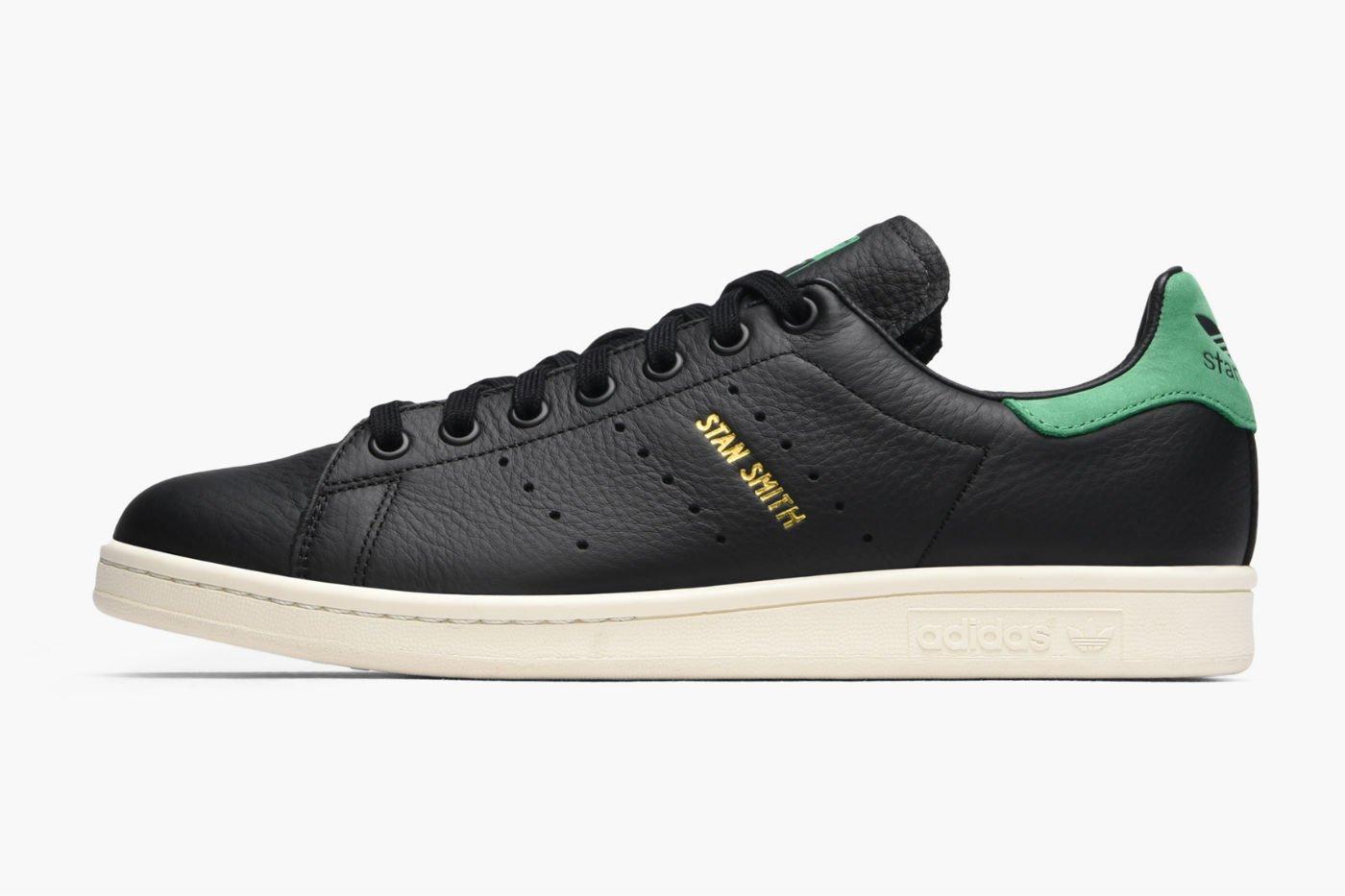 adidas originals stan smith core black leather green