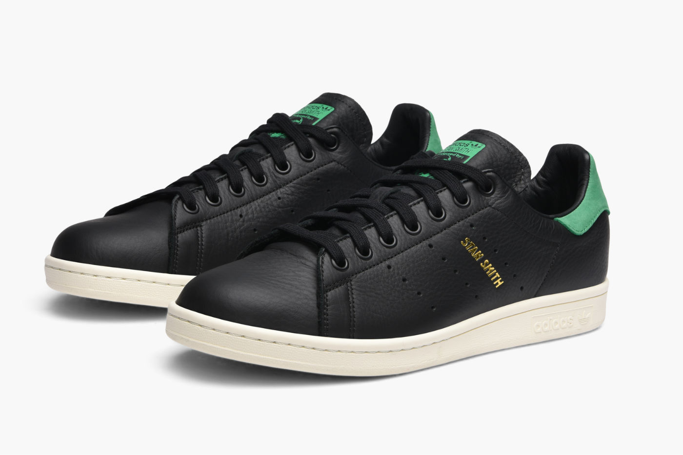 adidas originals stan smith core black leather green