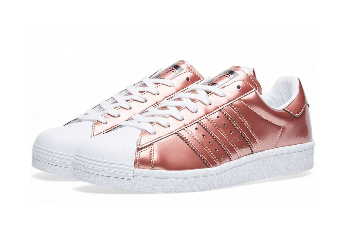 adidas Women's Superstar Boost W Copper Metallic & White