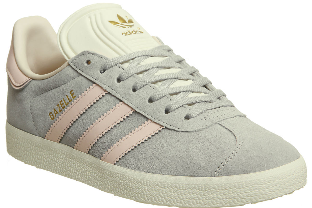adidas gazelle grey two icey pink